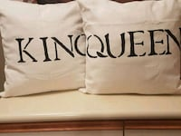 King  and  queen  decorative  pillows  Whitby, L1N 8X2