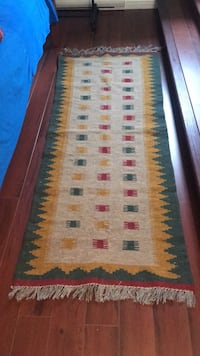 Brand new %100 wool klim rug, Hand made runner . Size : 72 by 28 Coquitlam, V3B 5R3