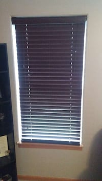 2-inch faux wood dark brown blinds Plainfield, 60586