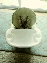 baby's white and green high chair Frederick