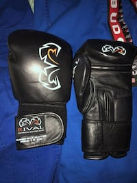 pair of black-and-white boxing gloves Toronto, M5A 2R9