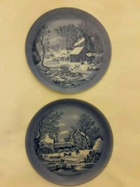 Decorative plates with winter scenes Germantown