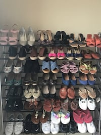WOMEN'S SHOES size 7 and 7 1/2, Michael Kors-Vince Camuto-Ralph Lauren-Coach-Nine West- etc. Flats, Middle Heels, Pumps, Sandals, Wedges, Sneakers. Some are Brand new.  Houston, 77056