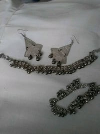silver-colored beaded necklace and bracelet Altamonte Springs, 32714