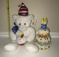 Happy Birthday Bear Toy Plush and Singing Cake - All this $3 Port Saint Lucie, 34953