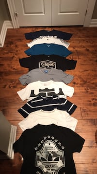 white and black crew-neck shirts Mississauga, L5G 2Z8