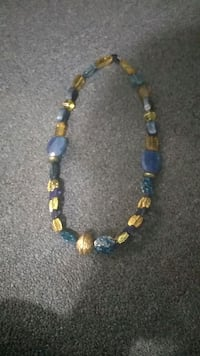 blue and yellow beaded necklace Hamden, 06514