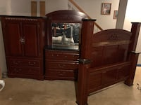 brown wooden dresser with mirror Temple Hills, 20748
