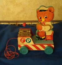 Vintage Fisher Price pull toy-- Tiny Teddy