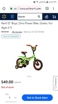 "Brand new 12"" Dinosaur bike bicycle  Poway, 92064"