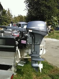 black and white outboard motor Langley, V2Y 1P7