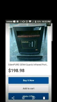 5000 BTU QUARTZ INFRARED PORTABLE HEATER WITH WHEE Palmdale, 93550