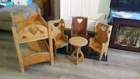 Wooden doll bunk bed,  and chairs and table Evansville, 47710