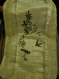 Embroidery Pillow Cases Silver Spring