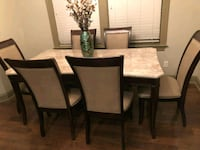 Beautiful Marble Top Dining Room Wood Table Youngsville