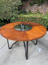 Beautiful Wood Table with Lazy Susie