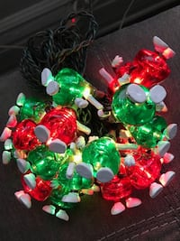 Hershey Kisses Red and Green Christmas Lights Strand Chicago, 60618