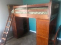 Solid wood bunk bed w/ drawers, shelves and desk Sacramento, 95829