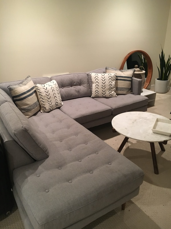 Strange West Elm Mid Century Modern Couch Feather Grey Onthecornerstone Fun Painted Chair Ideas Images Onthecornerstoneorg