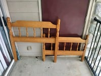 brown wooden headboard and footboard Lewisville, 75067