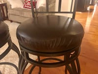 black leather padded bar seat Clarksburg, 20871