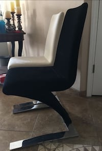 black and white leather padded chair Albuquerque, 87120