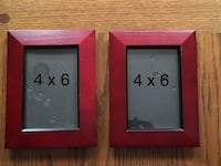 Set of wooden frames. They measure 5 x 7 each and fit 4 x 6 photos. Color mahogany. Marine Park Brooklyn New York New York, 11229