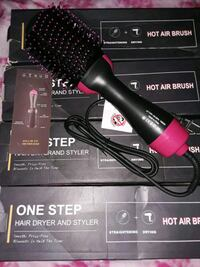 Hot air brush dryer and styler