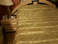 brown and gray floral stripe bed comforter