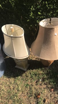 two white-and-brown table lamps Nashville, 37115
