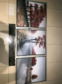 black wooden framed painting of trees Mississauga, L5L 3H1