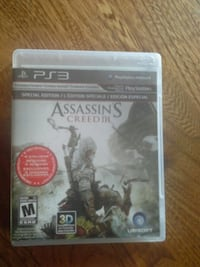 PS3 Assassin's Creed 3 game case Edmonton, T6C 2Z7