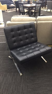 Authentic Black Leather Chair Norfolk, 23502