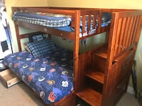 brown wooden bunk bed with mattress Lakeshore, N0R