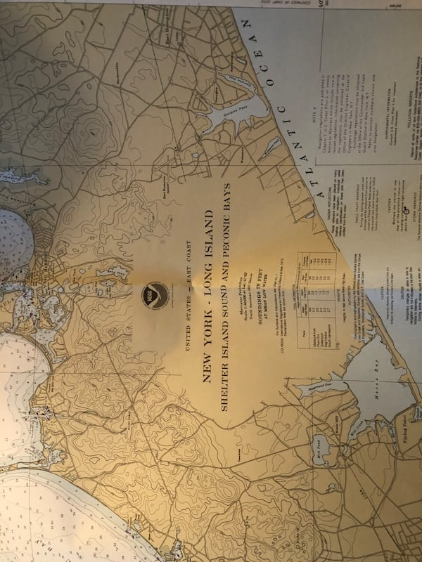 Vintage xl Long Island maps navigation and marine atlas  2