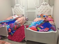 new kids bed each bed with new mattress double size with protection cover  504 km