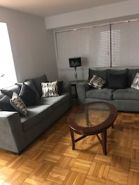 BASICALLY NEW living room sofa set w/center table Washington, 20009