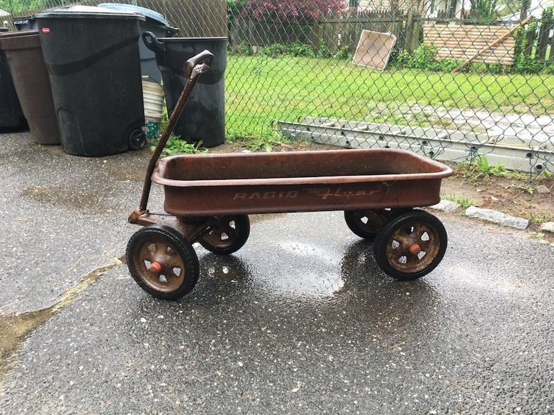 Sold Antique Radio Flyer Wagon In