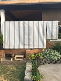 Grey roller Blind Awning made by Alexander Awning St Catharines, L2S 3R7