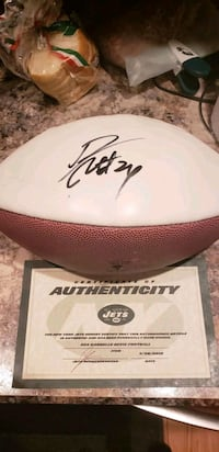 Darrelle Revis Autographed Football with COA  Latham, 12110