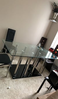 Glass dinning table with two chairs only Falls Church, 22044
