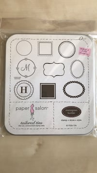 Unmounted Rubber Stamp Set Des Moines, 50311