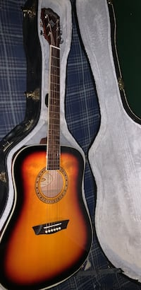 Brown and black classical guitar in case Mount Airy, 21771