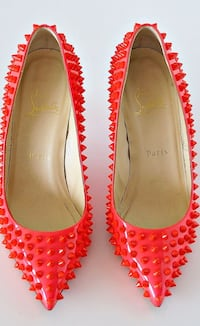 Red studded Christian Louboutin shoes
