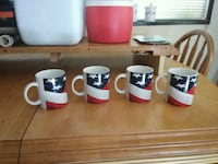 four blue-and-red ceramic mugs Walkertown, 27051