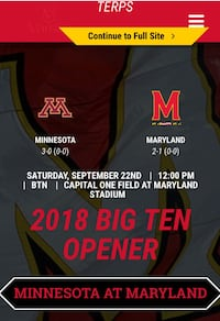 2 tickets to university of Maryland vs. Minnesota plus parking! Rockville, 20852