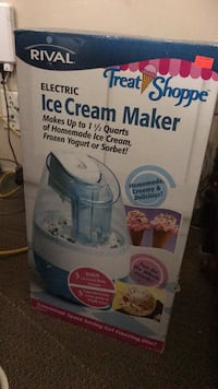 White and blue rival ice cream maker  Surrey, V3X