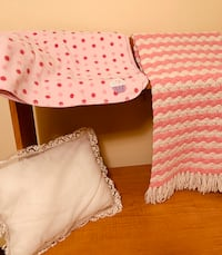 Set of Baby Blankets and Pillow