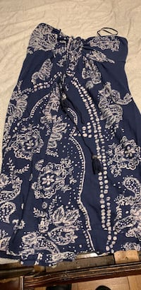 blue and white strapless floral sundress  Upper Marlboro, 20774