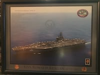 USS Ronald Reagan Framed Picture Wayne, 07470